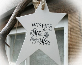 Wedding Bridal Shower Wishes for the Mr. Mrs., Guest Book Alternative