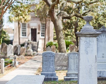 Charleston South Carolina, Low Country Photography, Charleston Graveyard, Southern Graveyard, 8x10 Photo Print