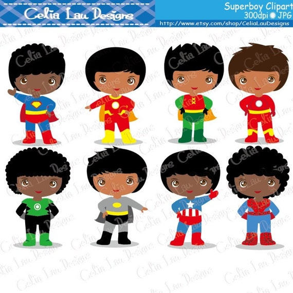 Superhero Art For Little Boys: Superheroes Boys Superhero Clip Art SuperBoy Clipart Photo