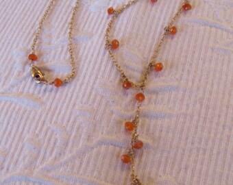 Carnelian teardrop necklace