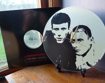 Bez & Shaun Ryder - Happy Mondays 12″ Vinyl Record Wall Clock, madchester, hacienda