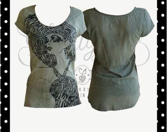T-shirt Meander Calligram