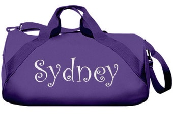 Personalized Duffel Bag - Barrel Duffle Bag, Sports Bag, Gym Bag, Tote Bag, Bridesmaid Gifts, Kids Gifts