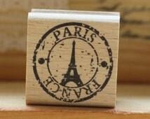 Paris PostStamp Rubber Stamp//Post cards stamp rubber /Wood stamp/Scrapbooking greeting cards DIY stamps//Wedding DIY Rubber stamp