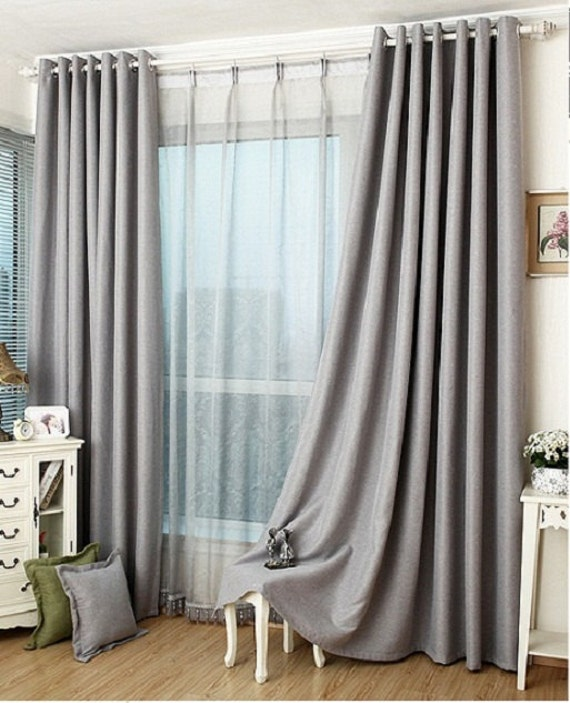 Slate Grey Blackout Curtain Insulation Curtain By Tailor2u