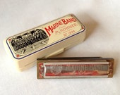 Vintage Marine Band Harmonica, Made by M.Hohner, No.1896