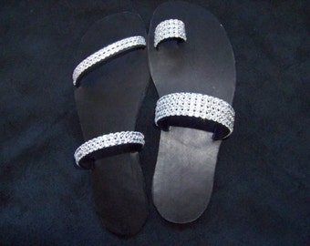 Elegant sandal with swarovski or diamante crystals - perfect for a wedding or special event