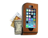 Leather iPhone Wallet Case Sleeve Handmade for 5s US version