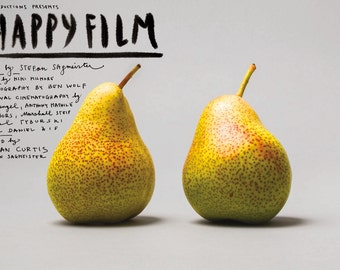 Happy Film Poster, Pears - SIGNED
