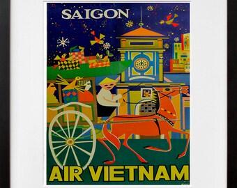 Vietnam Travel Poster Art Print Asian Home Decor (XR105)