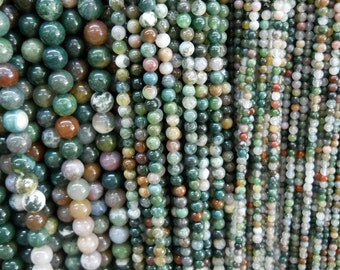 8mm indian agate round beads, 15.5 inch