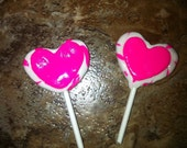 """American Girl doll food Valentines Day dessert and treats heart lollipops with frosting for AG or 18"""" Dolls"""