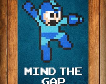 Mind the Gap - Mega Man Poster