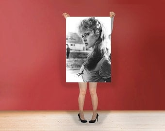 Brigitte Bardot - Classic Print Poster Rolled Wall Art Print POster Rolled - French former actress, singer and fashion model Photo