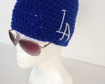 LA Dodgers inspired beanie