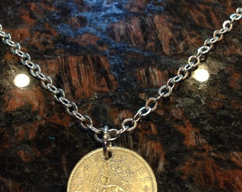 British 1 Shilling coin necklace