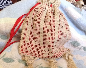 Antique Crocheted Handbag Wow!