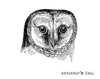 Vintage Owl Tattoo