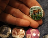 International Postage Stamp Pinback Buttons