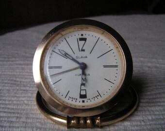 Vintage Slava alarm clock