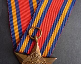 British WW2 Campaign Medal. The Burma Star. (Original British Campaign Medal)
