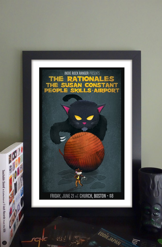 "The Rationales Gig Poster // Church, Boston MA 13""x19"""