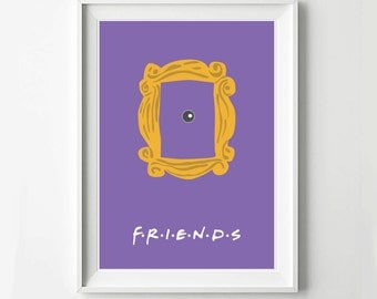 friends frame tv poster minimalist wall poster quote print digital art print
