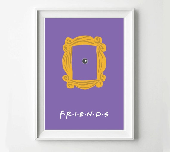 Friendship Picture Frames With Quotes: Friends Frame TV Poster Minimalist Wall Poster Quote