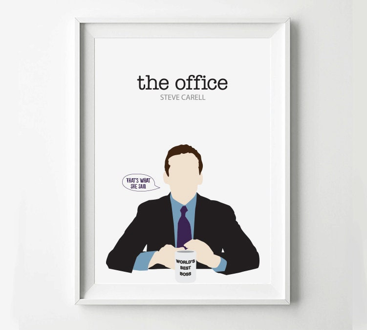 The Office Michael Scott TV Show Poster TV Poster By POSTERED