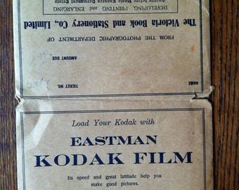 c1910 Eastman Kodak Film folder from shop in Victoria B.C.