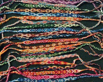 Handmade friendship bracelets.1 supplied.