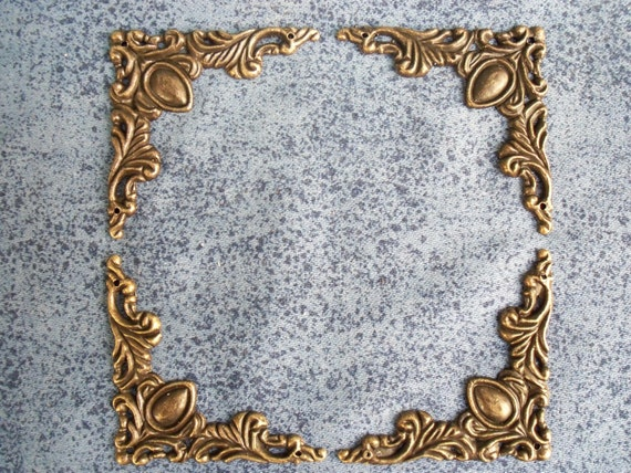 Pcs mmx mm metal color antique brass decorative corner