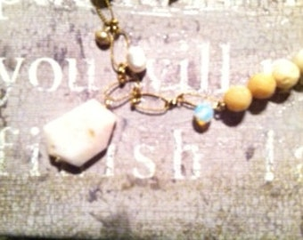 Peruvian Opal Necklace and matching earings