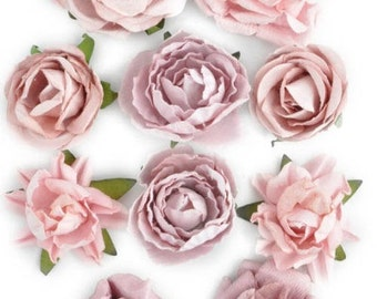 Paper Flowers in a bunch for scrapbooking and other crafts