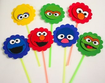 Sesame Street, the muppets cupcake toppers - Set of 14