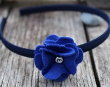 Classic felt flower hairband (headband, alice band) - 48 colours available