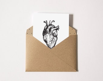 Open-heart → Love Affection → Love card with kraft envelope