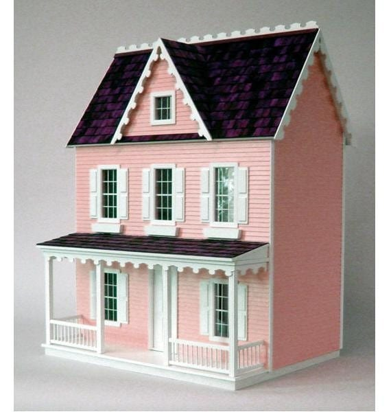 vermont farmhouse jr unfinished dollhouse kit from