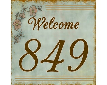 12X12 Aluminum House Number Address Plaque