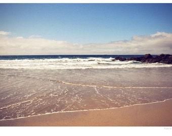 Beach photograph, fine art photo print, beach, vintage, landscape, cornwall, uk