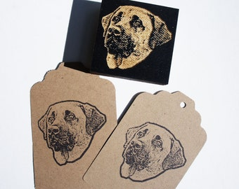 Pet Portrait Stamp. Custom Pet Face Stamp: Your Dog's face on a stamp! Free Shipping in Canada!
