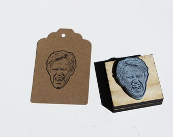 Gary Busey Face Stamp - Weird Rubber Stamp, Funny gift, gag gift, DIY party favours, Free Shipping in Canada!