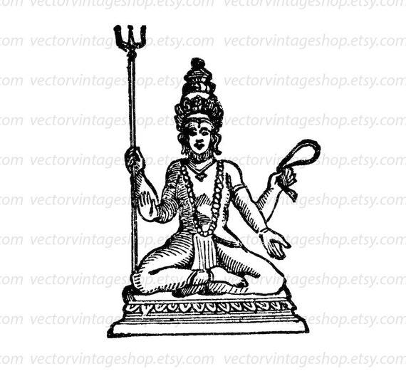 Shiva Destroyer Vector Graphic Instant Download, Siva ...