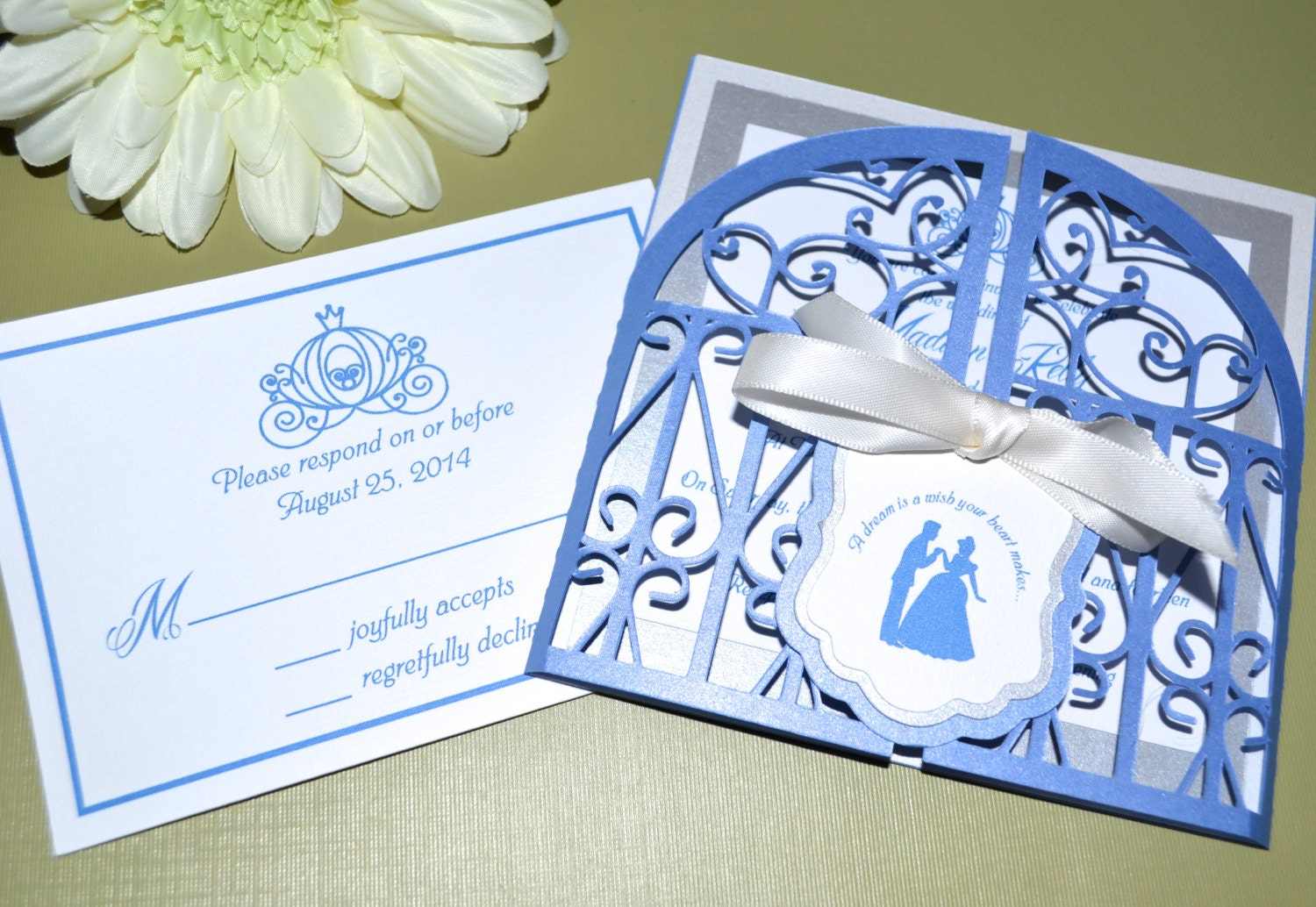 Fairy Tale Wedding Invitations Cinderella Regal Gate Fold – Cinderella Wedding Invitation