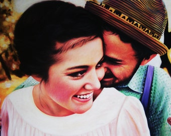 Custom Painting - Wedding/Couple -  Hand Painted Oil Portrait from your Photo on Canvas