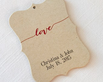 Wedding Tags, Love Customized Wedding Tags, Wedding Favor Tags  (EC-007-KR)