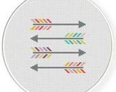 SALE Colorful Arrows PDF Cross Stitch Pattern