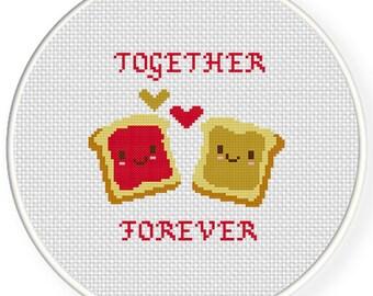 Together Forever PDF Cross Stitch Pattern Needlecraft - Instant Download - Modern Chart