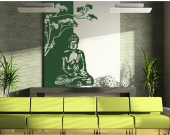 Buddha Meditation wall decal, sticker, mural, vinyl wall art
