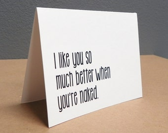 Valentines Day Card, funny valentines day card, couples card.